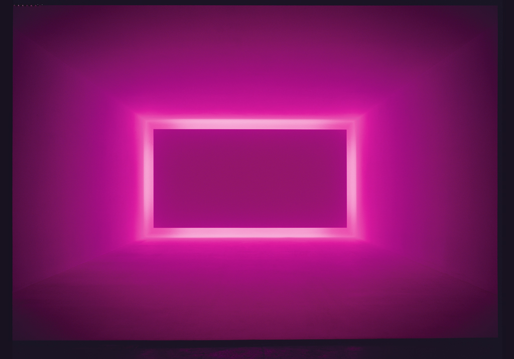 James Turrell. Raemar Pink White, 1967. Shallow space.